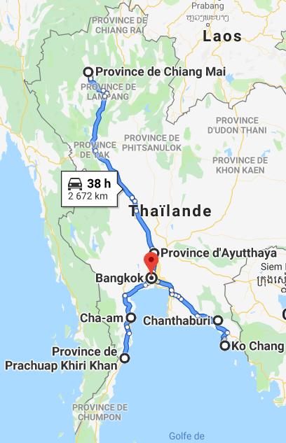 itineraire thailande Itinéraires