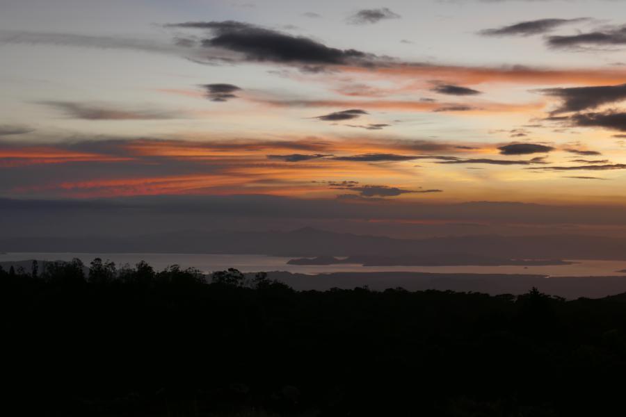Monteverde sunset Un noël au Costa Rica